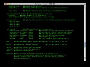 Use The Terminal to Setup Apple Remote Desktop Computer Info #1